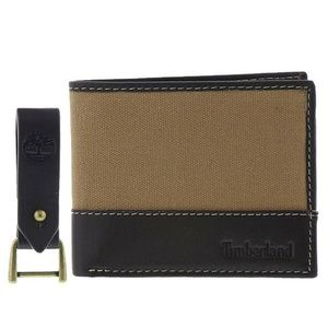 Timberland Leather Wallet With Key Fob Gift BoxSet